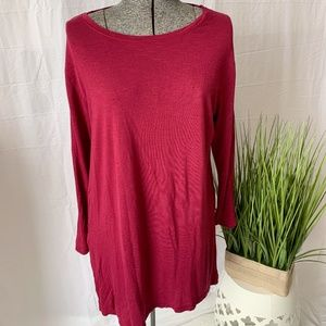 Old Navy Tunic Top Burgundy Size Large